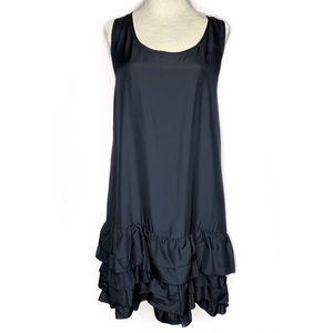 Gap 100% Silk Racerback Tiered Ruffle Hem Dress